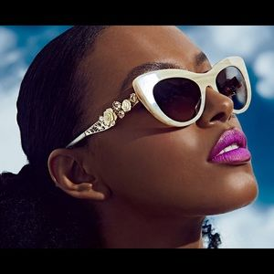 Dolce & Gabbana 50mm Rose Cat Eye Sunglasses